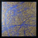 «MATERIOGRAPHY» n°17 Sand on Venice blue 29,5x29,5in.