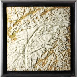 «MATERIOGRAPHY» n°120 Glass on Gold 11,8x11,8in.