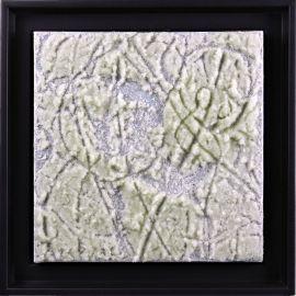 """""""MATERIOGRAPHY"""" n°130 Billes de Verre sur Aluminium 25x25cm"""