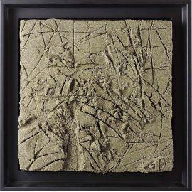 """""""MATERIOGRAPHY"""" n°186 Sable du Mont-Saint-Michel 25x25cm"""