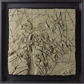 «MATERIOGRAPHY» n°186 Le Mont-Saint-Michel 9,8x9,8in.
