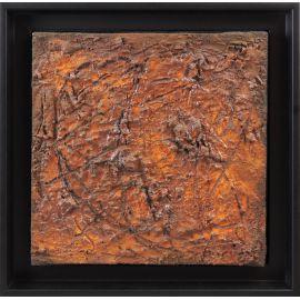 """""""MATERIOGRAPHY"""" n°155 Oxydation de Rouille 25x25cm"""