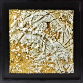 «MATERIOGRAPHY» n°162 Glass on Gold 9,8x9,8in.