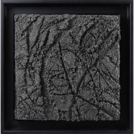 «MATERIOGRAPHY» n°192 Marble powder 9,8x9,8in.