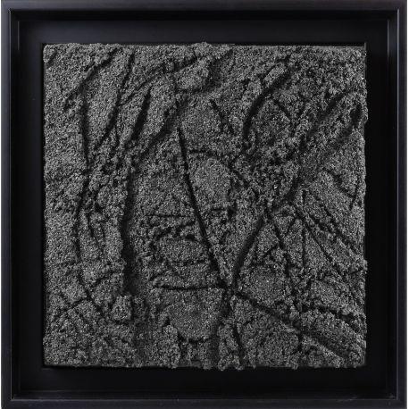 """""""MATERIOGRAPHY"""" n°192 Grains de marbre 25x25cm"""