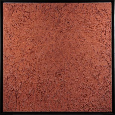 """""""MATERIOGRAPHY"""" n°95b Terre de Laguiole 100x100cm"""