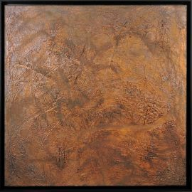 «MATERIOGRAPHY» n°99 Rust 31,5x31,5in.