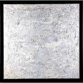 """MATERIOGRAPHY"" n°103 Marbre et Aluminium 60x60cm"