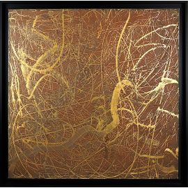«MATERIOGRAPHY» n°40 Rust on Gold 29,5x29,5in.
