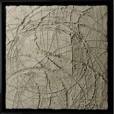"""""""MATERIOGRAPHY"""" n°180 sable du Mont-Saint-Michel 50x50cm"""